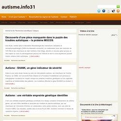 autisme.info31 » Recherches scientifiques