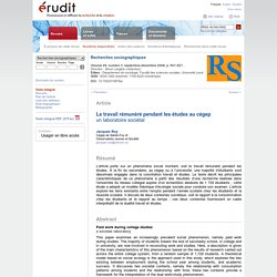 Recherches sociographiques v49 n3 2008, p.501-521