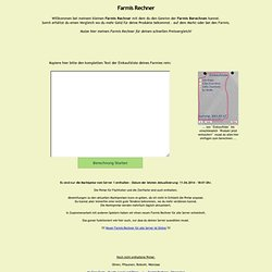 Farmis Rechner v1.04 - Farmis Einkaufliste Online berechnen - My