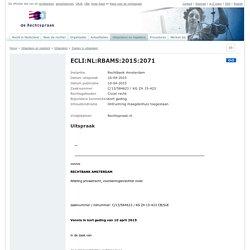 ECLI:NL:RBAMS:2015:2071, Rechtbank Amsterdam, C/13/584623 / KG ZA 15-423