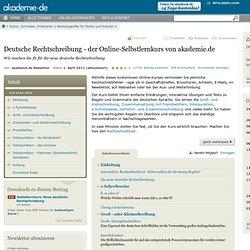 Kurs: Die neue deutsche Rechtschreibung - Online lernen bei akademie.de