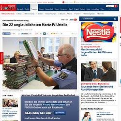 Umstrittene Rechtsprechung: Die zehn unglaublichsten Hartz-IV-Urteile - d