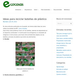 Ideas para reciclar botellas de plástico
