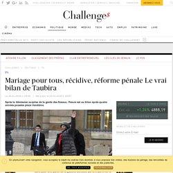 Récidive, réforme pénale, mariage pour tous Le vrai bilan de Taubira après 4 ans au ministère de la Justice - Challenges.fr