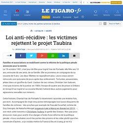 Loi anti-récidive : les victimes rejettent le projet Taubira