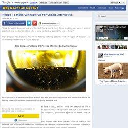 Recipe To Make Cannabis Oil For Chemo Alternative