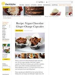 Vegan Chocolate Ginger Orange Cupcakes
