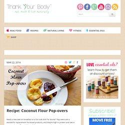 Recipe: Coconut Flour Pop-overs