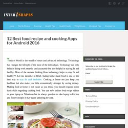 Amazing food recipe and cooking apps for android