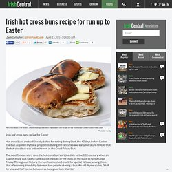 Irish hot cross buns recipe for run up to Easter