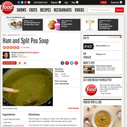 Ham and Split Pea Soup Recipe : Emeril Lagasse