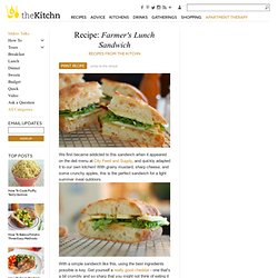 Recipe: Farmer's Lunch Sandwich