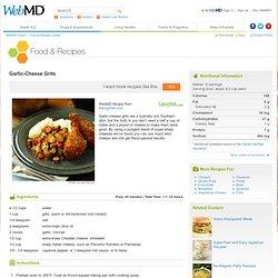 Side Dish Recipe: Garlic Cheese Grits