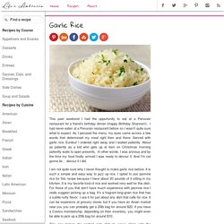 Recipe for Garlic Rice - Life's Ambrosia Life's Ambrosia