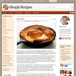 Dutch Baby Recipe, German Pancake Recipe