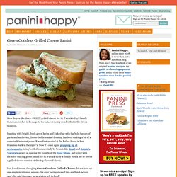 Recipe: Green Goddess Grilled Cheese Panini