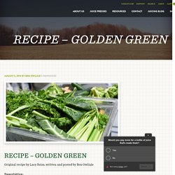 RECIPE - GOLDEN GREEN - Goodnature