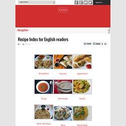 Recipe Index for English readers Recipe