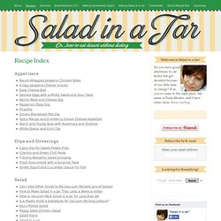 Recipe Index for Salad in a Jar