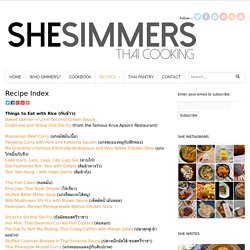 Recipe Index - SheSimmers