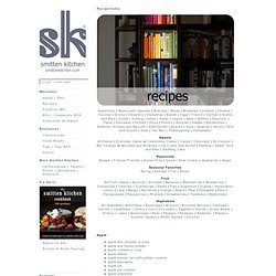 Recipe Index | smitten kitchen