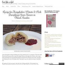 Recipe for Kroppkakor (Potato & Pork Dumplings) from Ninnis in Öland, Sweden