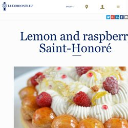 Lemon and raspberry Saint-Honoré