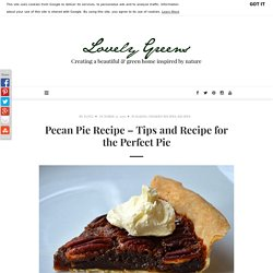 Pecan Pie Recipe - Tips and Recipe for the Perfect Pie - Lovely Greens