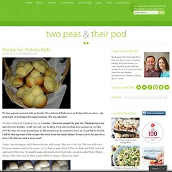 Recipe for Potato Rolls