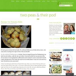 Recipe for Potato Rolls