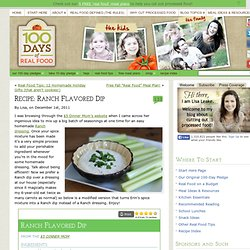 Recipe: Ranch Flavored Dip - 100 Days of Real Food