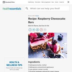 Recipe: Raspberry Cheesecake Bars