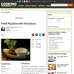Fried Pig Ears with Hot Sauce Recipe
