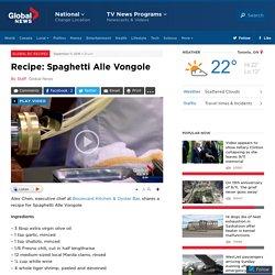 Recipe: Spaghetti Alle Vongole - BC
