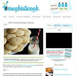 Recipe for Sugar Cookies
