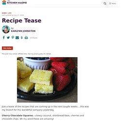 Recipe Tease