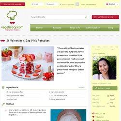 Vegan recipe: St Valentine's Day Pink Pancakes