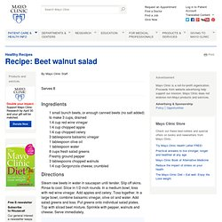 Recipe: Beet walnut salad