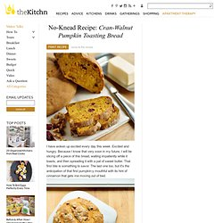 No-Knead Recipe: Cran-Walnut Pumpkin Toasting Bread