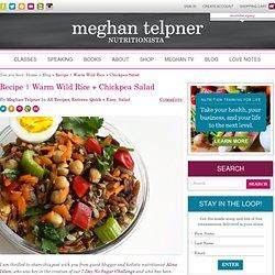 Warm Wild Rice + Chickpea Salad
