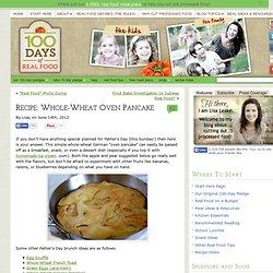 Whole-Wheat Oven Pancake