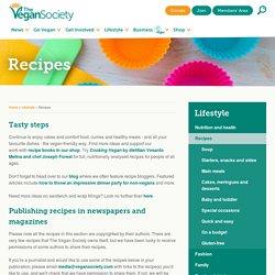 vegan society recipes