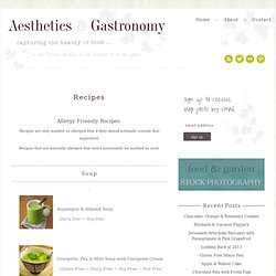 Recipes - Aesthetics & Gastronomy