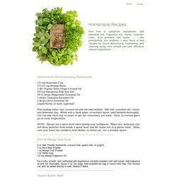 Recipes by Alpine Naturals