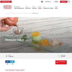 Pandan Coco - Recipes Catering - Elle & Vire Professionnel