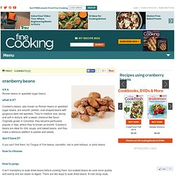 Recipes using cranberry beans
