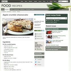 Food - Recipes : Apple crumble cheesecake