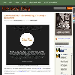 The Food Blog - recipes, culinary musings, food stories, culture, history and a bit of fun