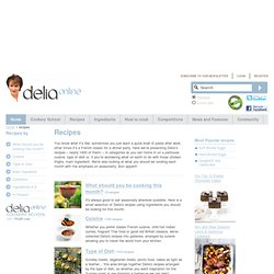 Recipes - from Delia Online