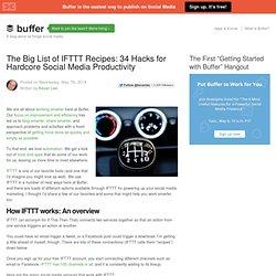 The Big List of IFTTT Recipes: 34 Hacks for Hardcore Social Media Productivity